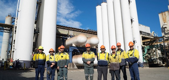 Safety at Coregas Port Kembla plant -  no lost time injuries in 10 years